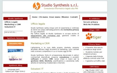 screenshot sito nuovo studio synthesis