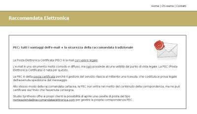 screenshot raccomandataelettronica